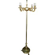 Vintage Solid Brass Floor Lamp with Four Lights