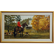The Hunter on Horse by Gilles Archambault, Acrylic, 1988