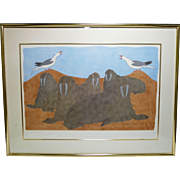 Inuit, Eskimo Print, Limited Edition, Povungnituk, 1987