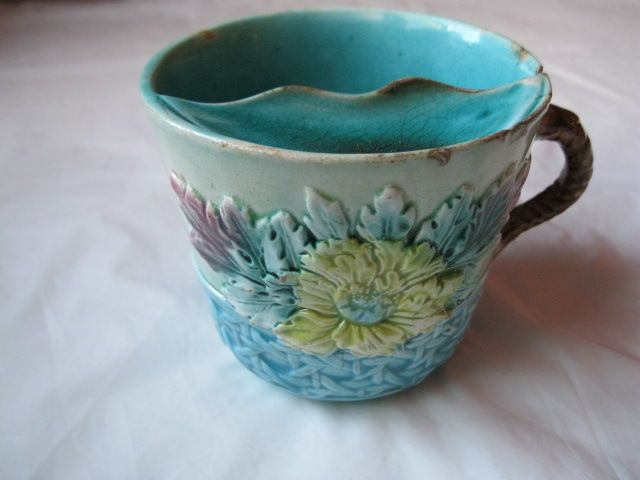 Antique Victorian Majolica Mustache Cup From Midas On Ruby