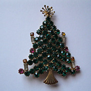 Vintage St Labre Christmas Tree Pin--Signed