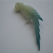 Vintage Blue Celluloid Parrot Pin--Made in Italy