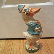 Vintage Rare Donald Duck Cast Iron Doorstop