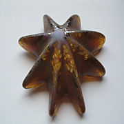 SOLD Artist Signed Glass Starfish Paperweight