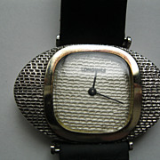 Vintage Longines Sterling Silver with 14 K Gold Trim Manual Wind Watch