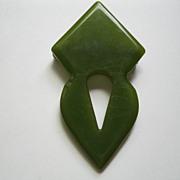 Vintage Green Bakelite Pin Broach