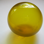 Vintage Yellow Glass Hand Blown Fish Float