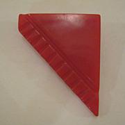 Vintage Red Bakelite Pin Broach
