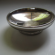 SOLD Vintage Mercury Glass Silver Bowl