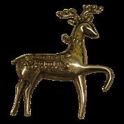 Vintage 1974 Signed Oneida Sterling Cupid Reindeer Pin Pendant