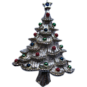 Vintage Signed Gerry's Christmas Tree Pin Broach