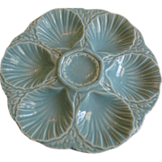 Vintage Signed & Numbered French Majolica Oyster Plate