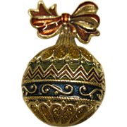 Vintage Signed NR Christmas Ornament Pin Broach