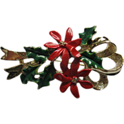Vintage Signed Gerrys Poinsettia Pin Broach