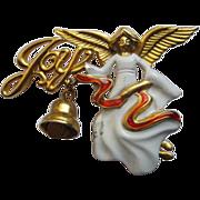 Signed Danecraft Angel Pin Broach