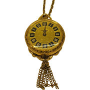 Vintage Lucerne Wind Up Watch Necklace Pendant Swiss made Tells Time