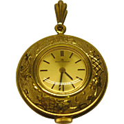 Marcel Bucherer Ornate Gold Tone Metal Watch Pendant Swiss Made