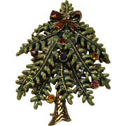 Book Piece Signed Avon 2004 1st Annual Christmas Tree Pin