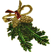 Vintage Signed Gerry's Pine Boughs Pin Broach