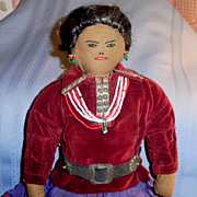 """17"""" Old Navajo Cloth Doll"""