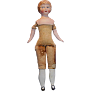 Bisque Head German Tinted Bisque Dollhouse Lady doll