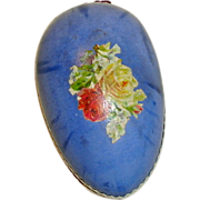 Antique Easter Egg Candy Container with Floral Decoration