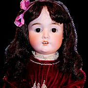 "SOLD 25"" Antique German Bisque Schoenau and Hoffmeister S H 1906 Doll"