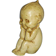 Antique 1913 Chalkware Rose O'Neill Sitting Kewpie Doll