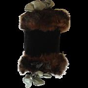Black Velveteen French Fashion Doll Muff