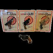 4 Vintage Die Cast Metal ZEE Toys Pistol Cap Guns