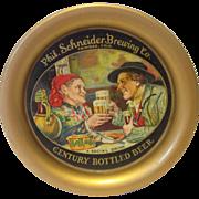 Vintage Phil. Schneider Brewing Beer Tip Tray Trinidad Co.