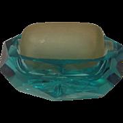 Old Blue Glass Stamp or Envelope Moistener Wetter