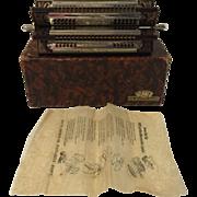 Antique German Hohner Silberstimmung Extra Fine Sextet Harmonica