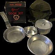 Vintage Boy Scout Official Aluminum Cook Kit in Original Box