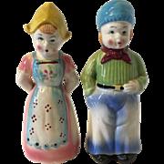 Huge Vintage Dutch Boy & Girl Salt and pepper Shakers
