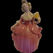 Vintage Pink  Half Doll Madame Pompadour Dresser Doll Germany