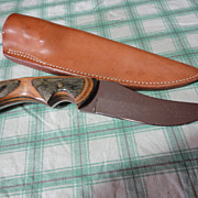 REDUCED Custom made Hunting Knife and sheath