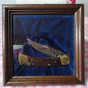 Buck Knife Model 110 number 0548 of 1500 Whitetail Buck