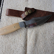 REDUCED Custom made white handle hunting knife
