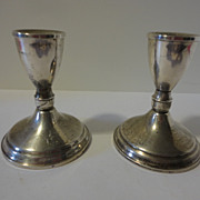 Pair of Duchin Sterling Silver Weighted Candle Holders