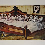 Antique Mormon Humorous 1907 Brigham Young Postcard