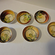 REDUCED Vintage Nippon Hand painted Individual Open Salt Cellars Set of 6
