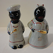Vintage Black Americana Aunt Jemima Mammy Salt & Pepper Shakers