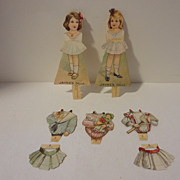 Antique 1895 Jayne's Dolls  Advertising Paper Dolls