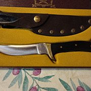 SOLD Buck Akonua hunting knife & sheath in box