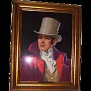 Knute O. Munson-Original Advertising/Illustration (Trademark) Art-Pastel Portrait for Beau ...