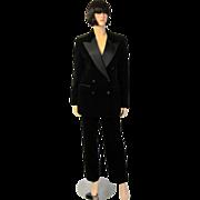 Bill Blass-Stunning Black Velvet and Satin Tuxedo Suit
