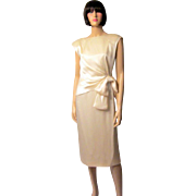 Giorgio of Beverly Hills-Soft White Charmeuse Cocktail/Wedding Dress