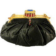 Uniquely Unusual, Jeweled Embellished, Pouch-Styled Clutch/Handbag