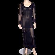 Mariot Chanet-Paris-Sleek and Sensual Long Black Gown